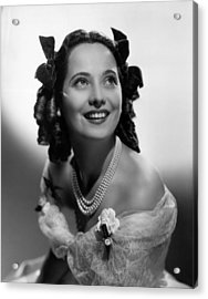 Wuthering Heights, Merle Oberon, 1939 Acrylic Print by Everett