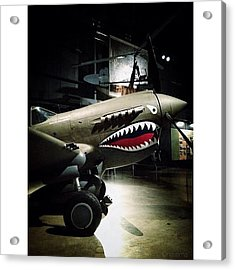 Ww2 Curtiss P-40e Warhawk Acrylic Print