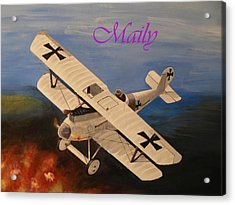 Wwi Aplane Acrylic Print by Maily