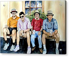 Wwii Heroes Acrylic Print by Candy Yu