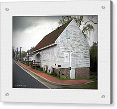 Wye Mill - Street View Acrylic Print by Brian Wallace
