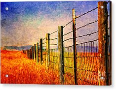 Wyoming Fences Acrylic Print