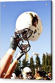 Wyoming Helmet Acrylic Print by Univesity of Wyoming
