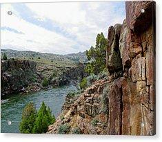 Wyoming River Acrylic Print by Wayne Toutaint
