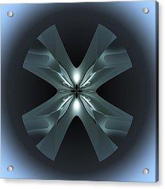 Acrylic Print featuring the digital art X Lights by Visual Artist Frank Bonilla