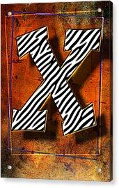 X Acrylic Print
