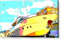 Acrylic Print featuring the photograph Yacht Dry Docking by Rogerio Mariani