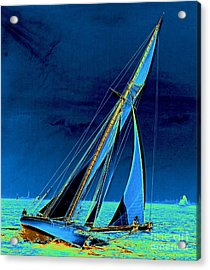 Yacht Shamrock In New York Harbor 1895 Acrylic Print by Padre Art