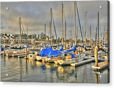 Yachts On A Lazy Afternoon Acrylic Print