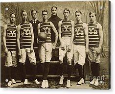 Yale Basketball Team, 1901 Acrylic Print by Granger