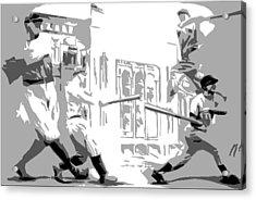 Yankee Greats Poster Acrylic Print by Adam Barone
