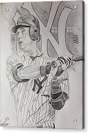 Yankee Pride Derek Jeter  Acrylic Print