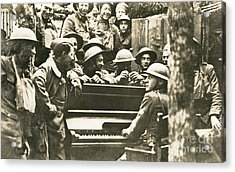 Yankee Soldiers Around A Piano Acrylic Print