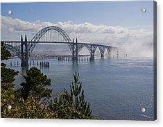Yaquina Bay Bridge Acrylic Print by Mick Anderson