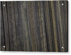 Yardsticks - Aged 18 Inch Closer 21 Acrylic Print