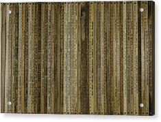 Acrylic Print featuring the painting Yardsticks - Tan by Kurt Olson