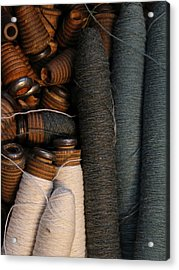 Yarn And Bobbins Acrylic Print by Odd Jeppesen