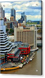 Yarra River City Block Of Primary Colors Acrylic Print