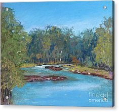 Yarra River Warrandyte Acrylic Print by Nadine Kelly