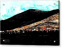 Acrylic Print featuring the photograph Ye Mountains Of Gilboa  by Itzhak Richter