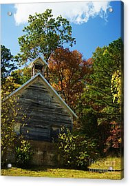 Acrylic Print featuring the photograph Ye Old Schoolhouse by Julie Clements