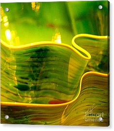 Acrylic Print featuring the photograph Yellow And Green by Artist and Photographer Laura Wrede
