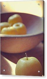 Yellow Apples Acrylic Print by Toni Hopper