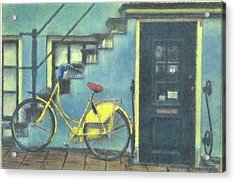 Yellow Bike Acrylic Print