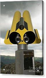 Yellow Binoculars Acrylic Print by Bernard Jaubert
