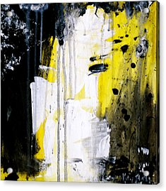 Yellow-black Acrylic Print by Kelly S