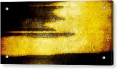 Yellow Acrylic Print by Brett Pfister