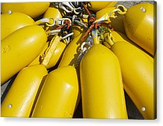 Yellow Buoys Acrylic Print