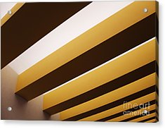 Yellow Ceiling Beams Acrylic Print by Jeremy Woodhouse