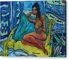 Yellow Chair 98 Acrylic Print by Bradley Bishko