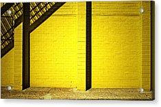 Yellow City Scene Acrylic Print