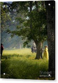 Yellow Dress Acrylic Print