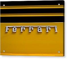Yellow Ferrari Brightwork Acrylic Print