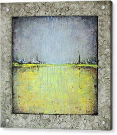 Yellow Field Acrylic Print by Lolita Bronzini