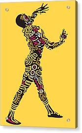 Yellow Haring Acrylic Print by Kamoni Khem