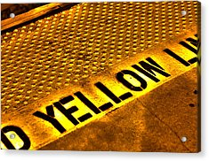Yellow Acrylic Print by Jeffrey Auger