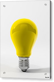 Yellow Lamp Acrylic Print