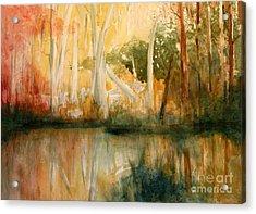 Yellow Medicine Creek 2 Acrylic Print by Julie Lueders