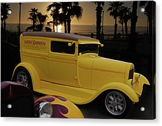 Acrylic Print featuring the photograph Yellow Panel by Bill Dutting