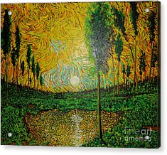 Yellow Pond Acrylic Print