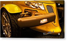 Yellow Prowler Detail Acrylic Print by Chas Sinklier