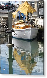 Acrylic Print featuring the photograph Yellow Reflection by Louise Peardon