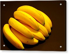 Yellow Ripe Bananas Acrylic Print by Jose Lopez