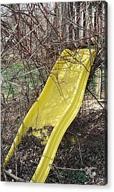 Yellow Slide Acrylic Print by Todd Sherlock