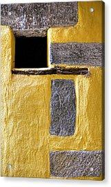 Yellow Stone Wall Acrylic Print by Joana Kruse