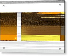 Yellow Storm Acrylic Print by Naxart Studio